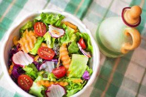 Fresh salad representing fresh content