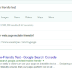 "Google mobile friendly test on results page for ""mobile friendly test"""